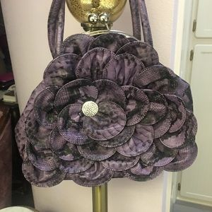 💜Charming Charlie Purse Purple/Black 💜